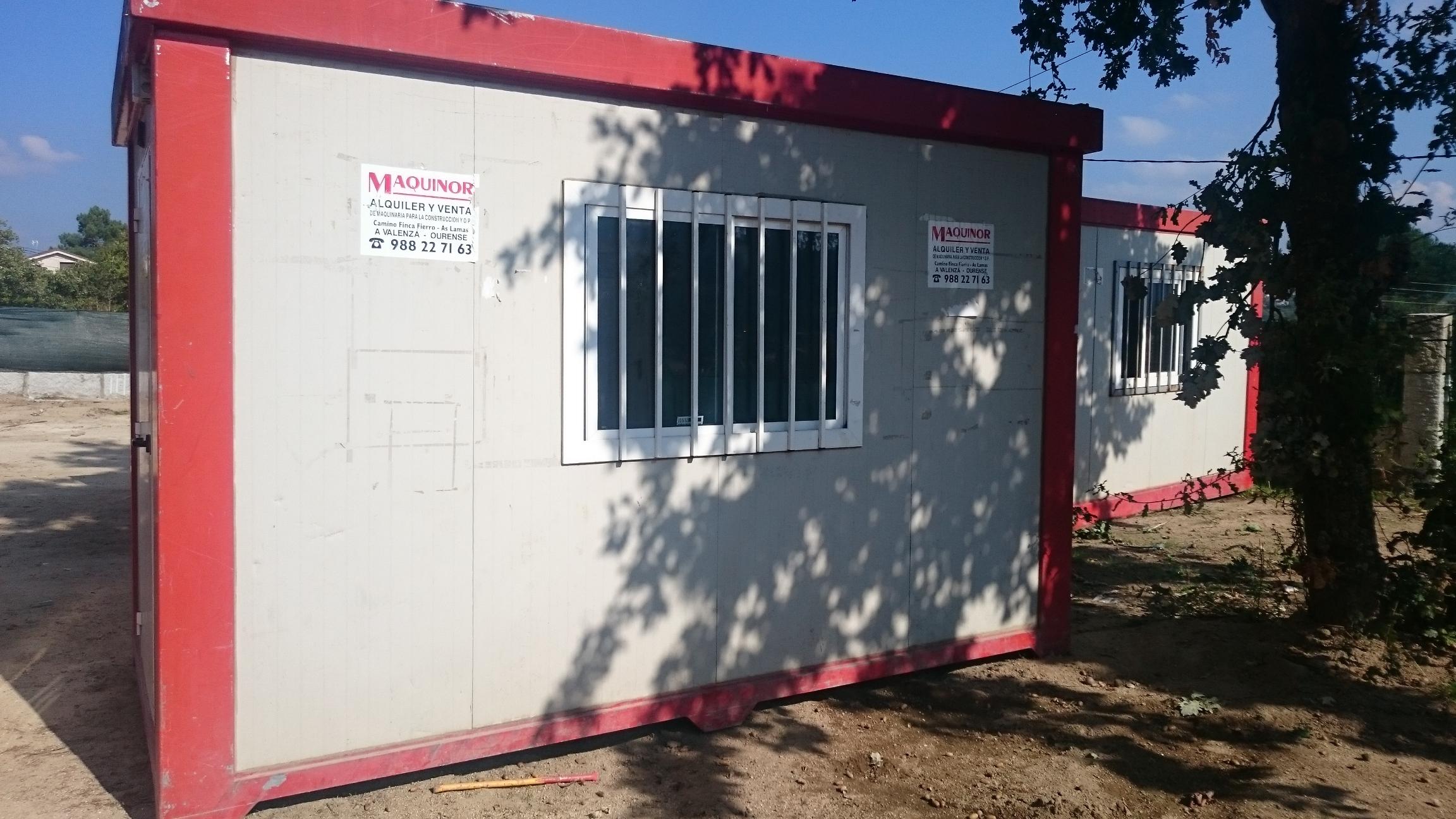 Casetas contenedores y ba os maquinor for Casetas para banos